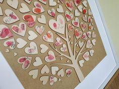Dřevěný svatební strom 40*70 cm, hnědý rám