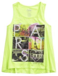 19b1afca6664 Paris Graphic Tank Girls Fashion Clothes