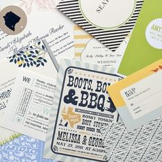 custom invites based on the unique components of your event, cool!