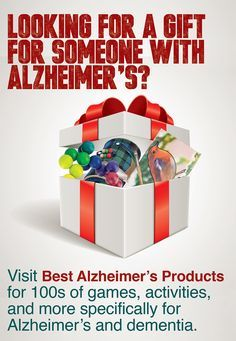Hundreds of gift ideas for Alzheimer's and dementia. Games, activities, DVDs, activity books and sensory stimulating products specifically for someone with Alzheimer's or dementia.