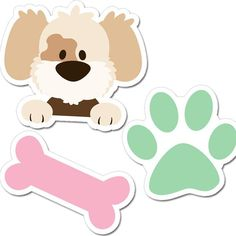 Puppy Party - Decorative shapes for Banners and Decoration Puppy Birthday Parties, Puppy Party, Dog Birthday, Sleepover Party, Kitty Party Games, Halloween Party Games, Diy Party Crafts, Craft Party, Imprimibles Baby Shower