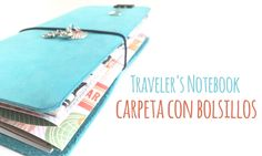 How to make a folder with pockets for your Traveler's Notebook - DIY TUTORIAL - YouTube
