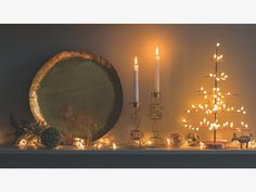 NATALE Round copper LED tree