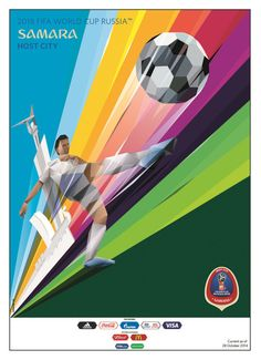FIFA World Cup 2018 Russia Host City Poster