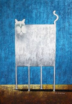 popart the funny white cat oil painting oil paintings painting by size 38267 White Cats, Elements Of Art, Cat Drawing, Whimsical Art, Fabric Painting, Crazy Cats, Cool Cats, Cat Art, Les Oeuvres