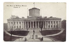 State House McKinley Memorial Columbus Ohio Unposted Vintage Postcard in Collectibles, Postcards, US States, Cities & Towns, Ohio | eBay