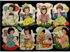 GAMMAL KRÛGERKARTA 98/76, inte så vanlig, orientaliska barn