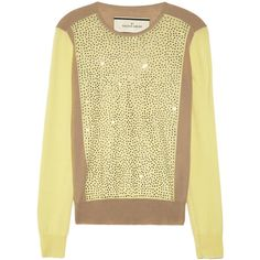 By Malene Birger Sunnia embellished fine-knit wool sweater ($485) ❤ liked on Polyvore