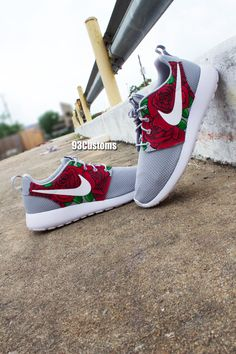 58a6e421cd18 Custom Hand Painted Nike Triple Rose Roshe Runs! Make sure to follow on  Instagram