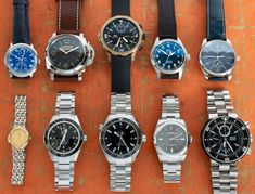 Today's update sports a 39mm Rolex OP, two Seamasters, a bronze IWC + IWC Mark XVIII, plus pieces from Longines, Oris, Panerai, and Ulysse Nardin.  Let us know if you have any questions on any of these pieces. Popular Watches, Iwc, Mechanical Watch, Rolex, Bronze, Sports, Hs Sports, Sport, Exercise
