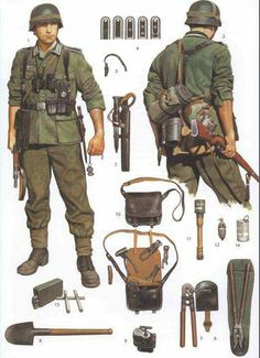 Wehrmacht soldier field equipment