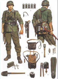 Wehrmacht soldier field equipment