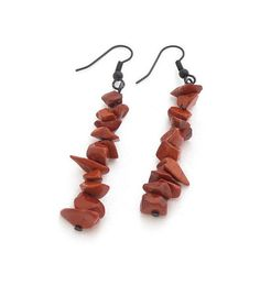 Red Jasper Gemstone Chakra Dangle Earrings by SamiPKCreations