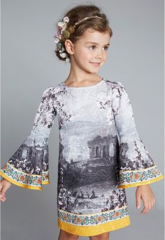 Dolce and Gabbana Spring 2014, long sleeves dress