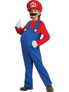 Child Deluxe Super Mario Bros Mario Costume