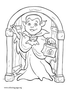 155 Halloween printable coloring pages for kids. Find on coloring-book thousands of coloring pages. Online Coloring Pages, Coloring Book Pages, Printable Coloring Pages, Coloring Sheets, Halloween Coloring Pictures, Halloween Coloring Pages, Halloween Vampire, Halloween Kids, Halloween Printable