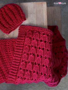 Ewe Ewe Baa Baa Zzz Baby Blanket & Hat Knitting Pattern PDF