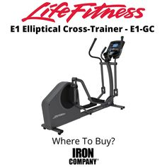 The E1 Elliptical Cross-Trainer from Life Fitness is the perfect home cardio machine for the person looking for a low-impact, total body workout who wants to just get on and go. It has everything you expect from Life Fitness – unparalleled quality, a fluid total body motion, and an incredible natural feeling, comfortable stride. At its state-of-the-art biomechanics testing lab in Chicago, Life Fitness has used years of research to develop an effective user-friendly crosstrainer design. Eddy Current, Elliptical Cross Trainer, Cardio At Home, Cardio Equipment, Total Body, Trainers, Lab, Chicago, Workout