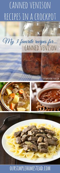 Canned Venison Recipes for the Crockpot -  I love the feeling of having my pantry stocked with jars and jars of canned venison.  It makes for quick and easy meals, and the flavor of canned meat is always moist and tender.