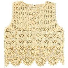 Tecendo Artes em Crochet: Blusinha Amarela Crochet Woman, Love Crochet, Easy Crochet, Crochet Lace, Crochet Stitches, Crochet Hooks, Crochet Patterns, Crochet Braids, Gilet Crochet