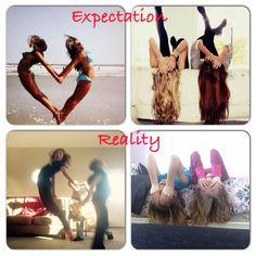 Lol @lydiaacra expectation vs reality