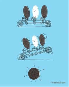ideas for funny illustration love doodles Cute Puns, Funny Puns, Funny Cartoons, Oreo Funny, Funny Laugh, Funny Art, Funny Doodles, Love Doodles, Cute Comics