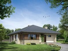 Projekt domu Aster Gazebo, House Plans, Outdoor Structures, How To Plan, House Styles, Outdoor Decor, Home Decor, Houses, Projects