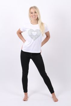 A fitted white t shirt with a pretty, light grey chic design reminding you to live with love! We at Pink Moods believe that love is an essential ingredient to life, whether that is to find more love for oneself or for others, live from the heart! If you want to go on a journey into yourself, that may even help you to find the love of your life, then visit our self discovery section. £13.99