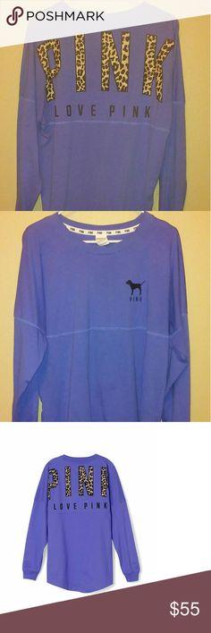 Purple vs crew Euc vs long sleeve cheetah crew Victoria's Secret Tops Tees - Long Sleeve