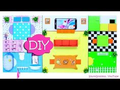 DIY Miniature House - Organizer And Wall Art - How To Make A Flat Functional Dollhouse - YouTube