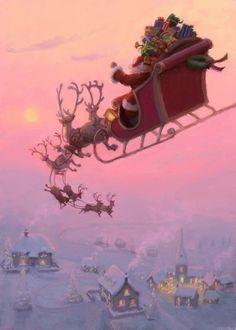 Christmas Scenery, Christmas Artwork, Old Christmas, Christmas Mood, Vintage Christmas Cards, Christmas Wallpaper, Christmas Pictures, Beautiful Christmas, Xmas