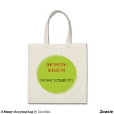 A funny shopping bag