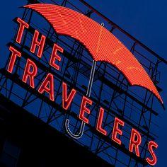 The Travelers Neon - Des Moines Iowa    © 2011 Michael F. Hiatt