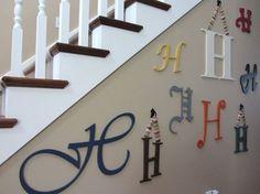 Decoración de paredes: letras, jugando con diferentes tipografias