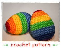Umizoomi Rainbow Egg - Egg Collection & Chick - Crochet Pattern - PDF file - Amigurumi Easter Crochet, Knit Crochet, Egg Shakers, Needle And Thread, Crochet Patterns, Rainbow, Etsy, Knitting, Trending Outfits