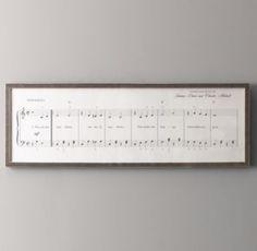 You Are My Sunshine Sheet Music | Wall Art | Restoration Hardware Baby & Child