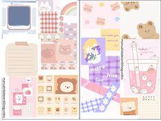 TUTORIAL EN MI CANAL DE YOUTUBE Album Diy, Princesas Disney, Happy Planner, Cute Stickers, Planner Stickers, Bullet Journal, Crafty, Lettering, Free