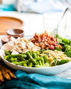 Chicken Bacon Spinach & Asparagus Salad