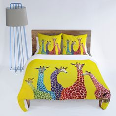 Found it at AllModern - DENY Designs Clara Nilles Jellybean Giraffes Duvet Cover Collection Giraffe Room, Giraffe Decor, Giraffe Print, Contemporary Bed Sheets, Cute Duvet Covers, African Interior Design, How To Dress A Bed, Room Accessories, Bed Sheet Sets
