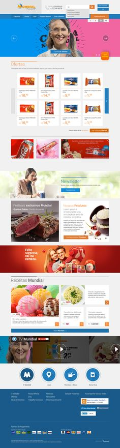 """Check out this @Behance project: """"Website - Supermercados Mundial"""" https://www.behance.net/gallery/44282903/Website-Supermercados-Mundial"""