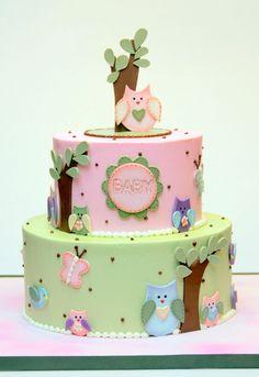 Custom wedding cakes, birthday cakes and cakes for all occasions Owl Cakes, Bird Cakes, Cupcake Cakes, Birthday Cake Girls, Birthday Cakes, Crazy Cakes, Cake Cover, Buttercream Cake, Love Cake