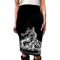 Stag Pencil Skirt, 41€, now featured on Fab.