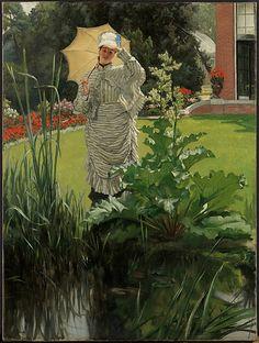 James Tissot, (French, 1836–1902). Spring Morning, ca. 1875. The Metropolitan Museum of Art, New York. Gift of Mrs. Charles Wrightsman, 2009 (2009.359) #spring