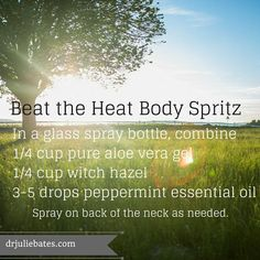Beat the Heat with an all-natural body spritz! #lovethis #essentialoils