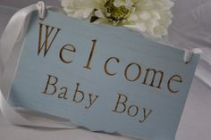 Baby Nursery Sign for New Baby - This would be a unique and exciting gift to give an expecting Mommy!