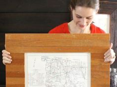 DIY Network shows how to upcycle old oak floorboards into a custom picture frame.