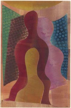 'Compositie met figuren' (1944) by Hendrik Nicolaas Werkman