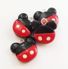 Mickey Mouse polymer clay charm