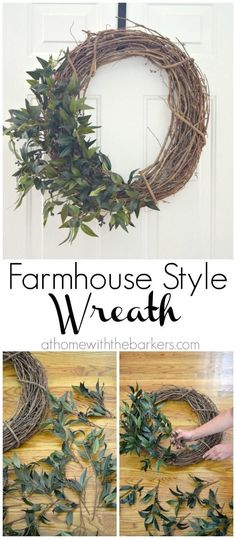 Simple Grapevine Wreath with Greenery