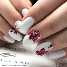Beautiful nail art designs that are just too cute to resist. It's time to try out something new with your nail art. Elegant Nail Designs, Beautiful Nail Designs, Nail Art Designs, Nails Design, Ten Nails, Luxury Nails, Manicure E Pedicure, Flower Nail Art, Stylish Nails